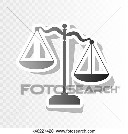 clip art scales of justice sign vector new year blackish icon on transparent