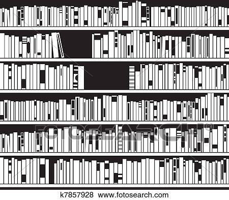 Bücherregal clipart schwarz weiß  Clip Art - schwarz weiß, modernes, bücherregal k7857928 - Suche ...