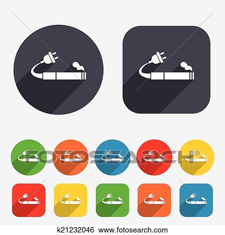 clip art of smoking sign icon e cigarette symbol k21232046