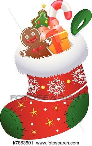 clipart weihnachten socke k7863501 suche clip art. Black Bedroom Furniture Sets. Home Design Ideas