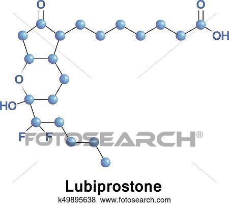 Lubiprostone medication constipation Clip Art