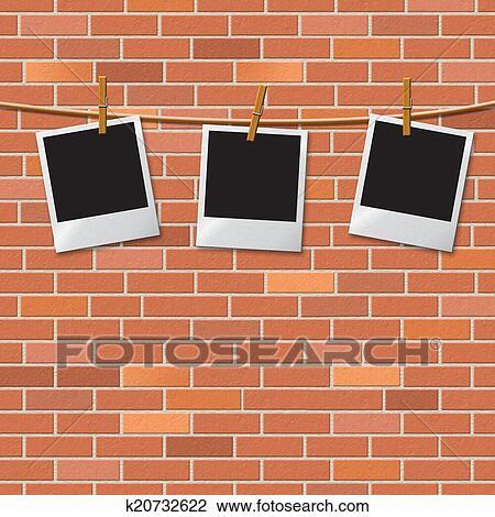 Mur Brique Represente Texte Espace Et Frontiere Dessin K20732622 Fotosearch