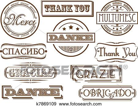 clip art of thank you stamps k7869109 search clipart illustration