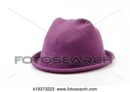 7e5fa9fd385 Stock Photo - Winter hat isolated white background. Fotosearch - Search  Stock Images