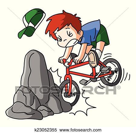 自転車 事故 クリップアート切り張りイラスト絵画集