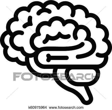 brain icon outline style clipart k60975964 fotosearch https www fotosearch com csp787 k60975964
