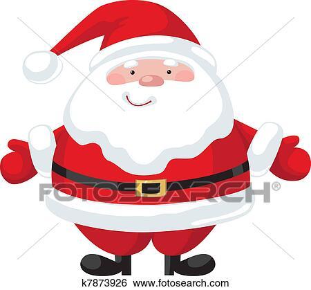 clip art of cartoon santa claus k7873926 search clipart rh fotosearch com Black and White Santa Claus santa claus vector drawing