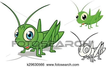 Clipart d taill sauterelle dessin anim k29630566 - Sauterelle dessin ...