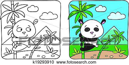 Clipart Klein Pandabaeren Ausmalbilder K19293910 Suche Clip