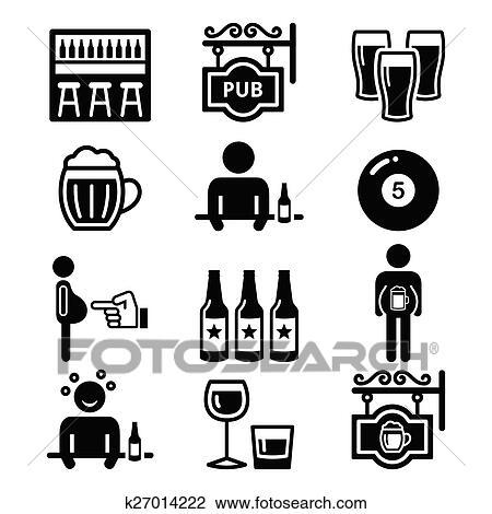 Clipart Kneipe Trinken Alkohol Bierbauch K27014222 Suche Clip