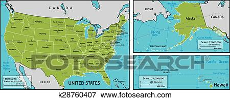 Map of USA Clip Art