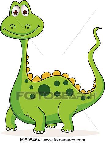 Clipart mignon vert dinosaure dessin anim k9595464 - Dinosaure dessin anime disney ...