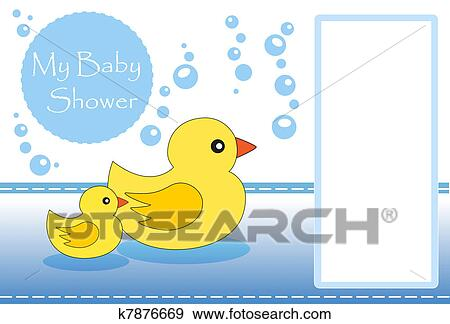 Stock Illustration Of My Baby Shower K7876669 Search Vector