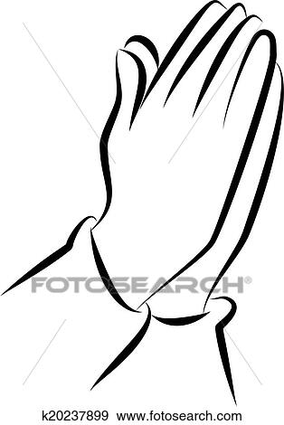 stock illustration of praying hands clip art k20237899 search
