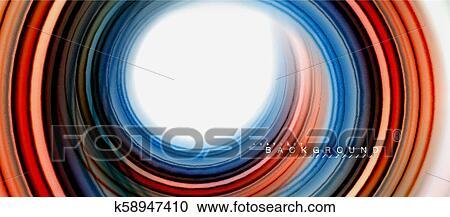 Rainbow Fluid Abstract Swirl Shape Twisted Liquid Colors