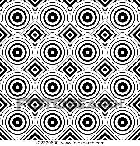 Seamless 几何学 背景 简单 黑白 条纹 Ve 剪贴画 K Fotosearch