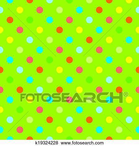 Vettore Punti Polca Sfondo Verde Clip Art K19324228 Fotosearch