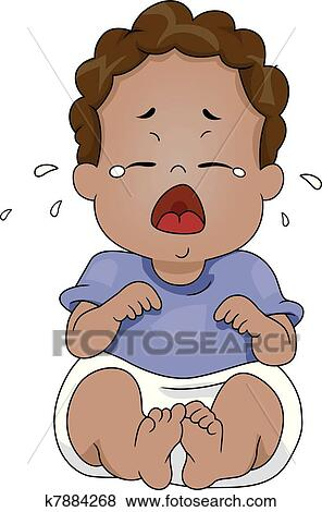 clip art of crying baby k7884268 search clipart illustration rh fotosearch com picture of baby crying clipart picture of baby crying clipart