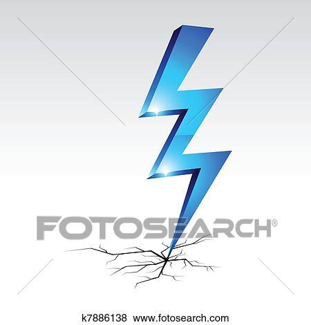 Clip Art - elektrizität, warnung, symbol. k7886138 - Suche Clipart ...