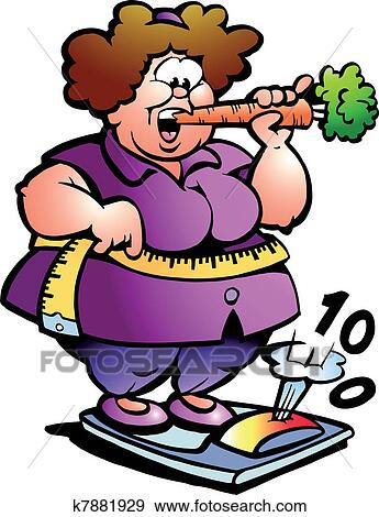 clip art of fat belly lady k7881929 search clipart illustration rh fotosearch com fat clipart girl fast clip art