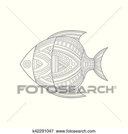 Clip Art - fresco, pez tropical, mar, submarino, naturaleza, adulto ...