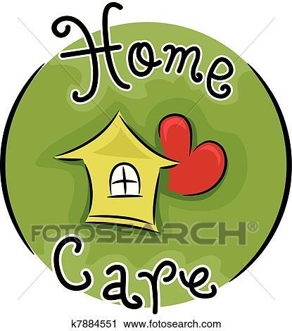clipart of home care k7884551 search clip art illustration murals rh fotosearch com home health care clipart home care clipart