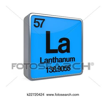 Drawings Of Lanthanum Element Periodic Table K22720424 Search Clip