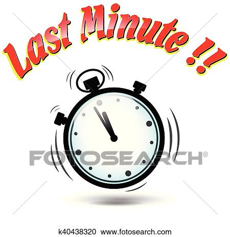 clipart of last minute stopwatch icon k40438320 search clip art