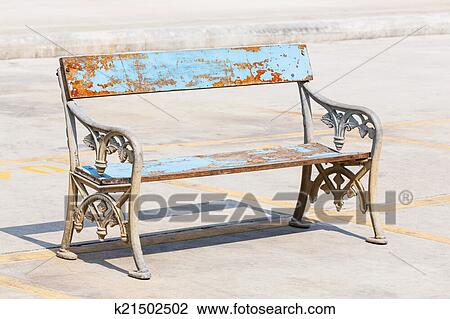Pleasing Old And Weathered Bench Stock Image Machost Co Dining Chair Design Ideas Machostcouk