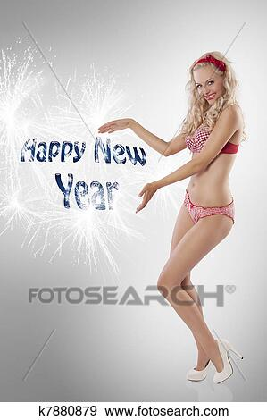 Sexy new year girl