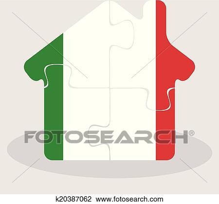 Klipart Ubytovat Se Domu Ikona S Italie Znameni Do Hadanka