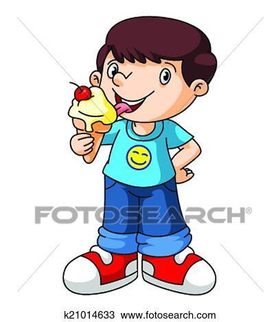 Clipart Kinder Essen Eis K21014633 Suche Clip Art