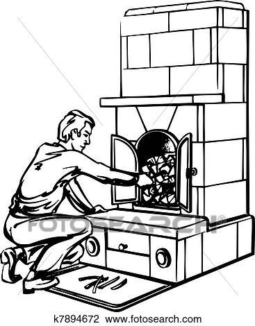 Surprising Man Near Fireplace Clipart Home Interior And Landscaping Palasignezvosmurscom