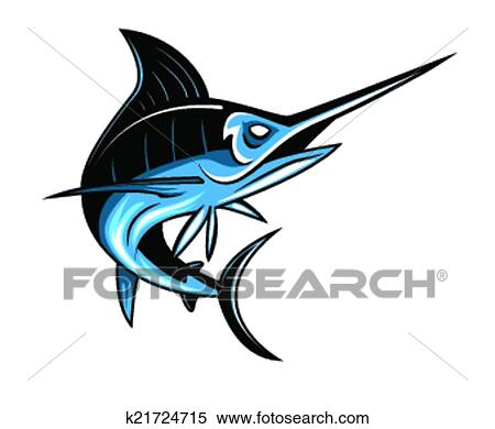 clipart of marlin fish k21724715 search clip art illustration rh fotosearch com