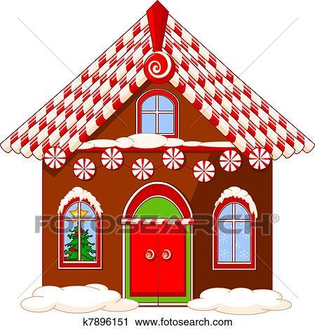 Clipart Weihnachten Haus K7896151 Suche Clip Art Illustration