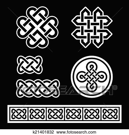 Clipart Of Celtic Irish Patterns And Braids K60 Search Clip Simple Irish Patterns