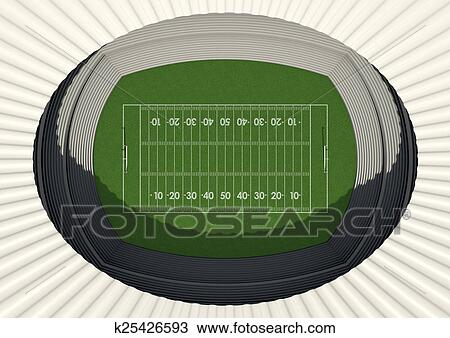 Football Stadium Day Drawing k25426593