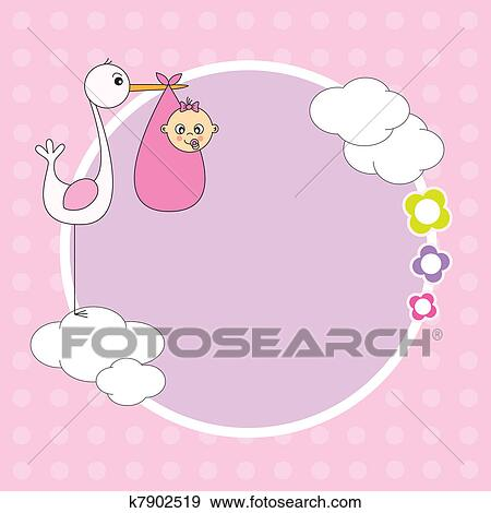 clip art of frame baby girl k7902519 search clipart illustration