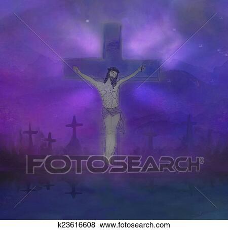 arquivos de ilustração crucificação de jesus christ cruz