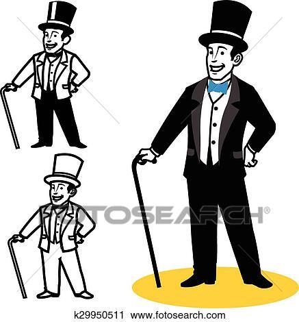 clipart of gentleman cartoon k29950511 search clip art rh fotosearch com english gentleman clipart little gentleman clipart