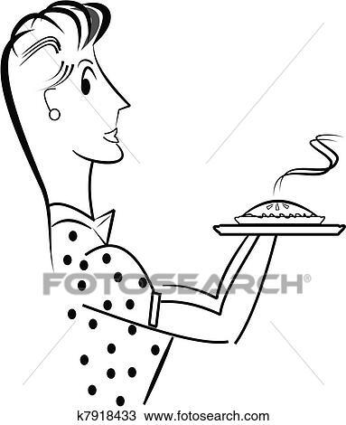 Clipart maman tarte aux pommes k7918433 recherchez des clip arts des illustrations des - Dessin de tarte aux pommes ...