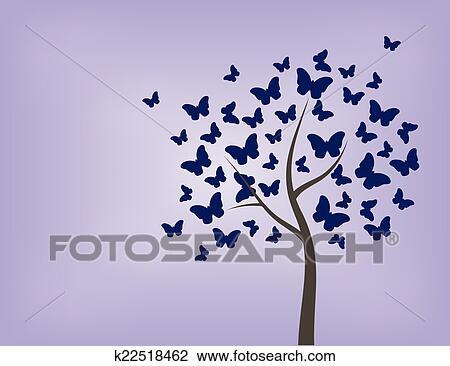 Albero Fatto Di Farfalle Clipart K22518462