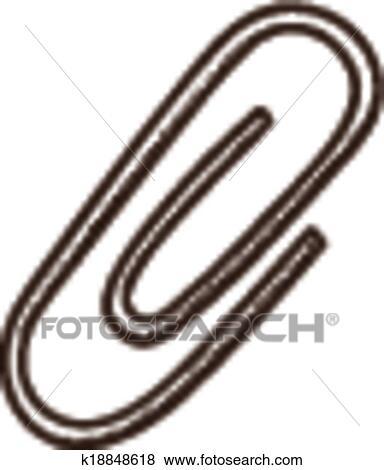 Clip Art Buroklammer Symbol K18848618 Suche Clipart Poster