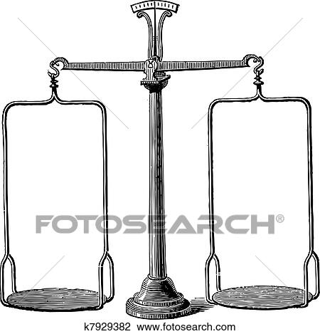 clipart of balance scale vintage engraving k7929382 search clip rh fotosearch com weighing scale balance clipart weighing scale balance clipart