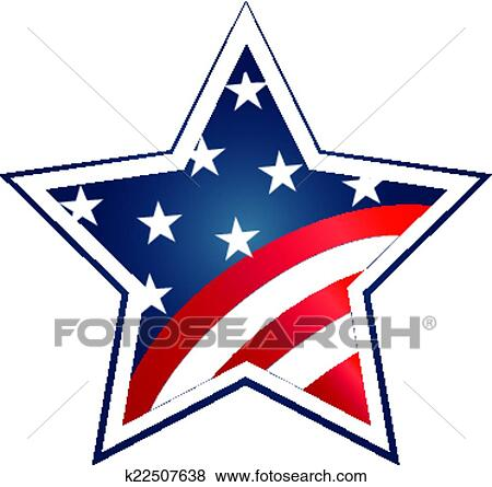 Clip Art Of Election 2016 With Usa Flag Illustration Vector Icon
