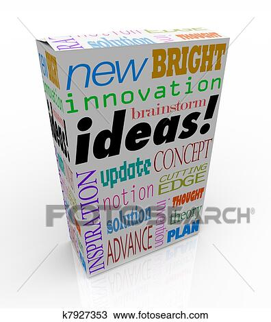 Drawing Of Ideas Product Box Innovative Brainstorm Concept