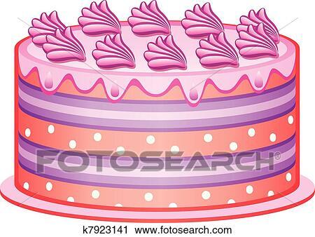 Clipart Vektor Kuchen K7923141 Suche Clip Art Illustration