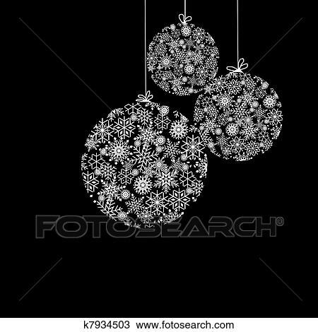 black and white christmas balls - White Christmas Balls