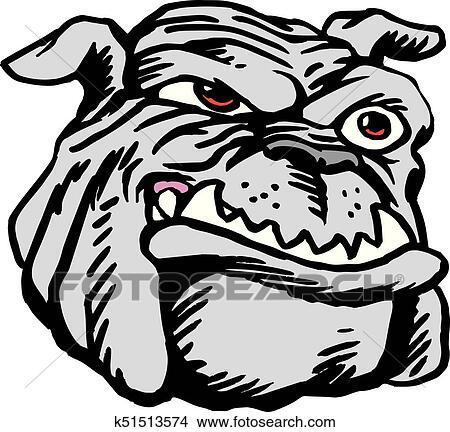 Bulldog Head Neo Classic Clipart K51513574 Fotosearch