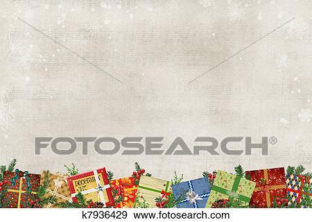Stock Illustration Of Christmas Gift Border K7936429